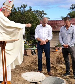 Greenwood Parish blesses new church centre ground, buries time-capsule for 'God's greater glory'
